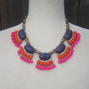 J. Crew Vivid Color Bead Bib Necklace